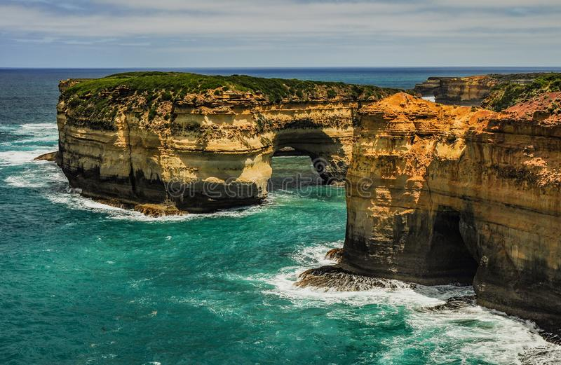 The great ocean road. The twelve apostles. he South West coast o royalty free stock photos