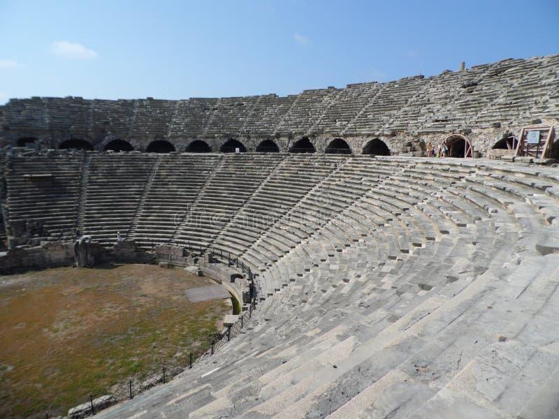 Great old amphitheatre . stock photos
