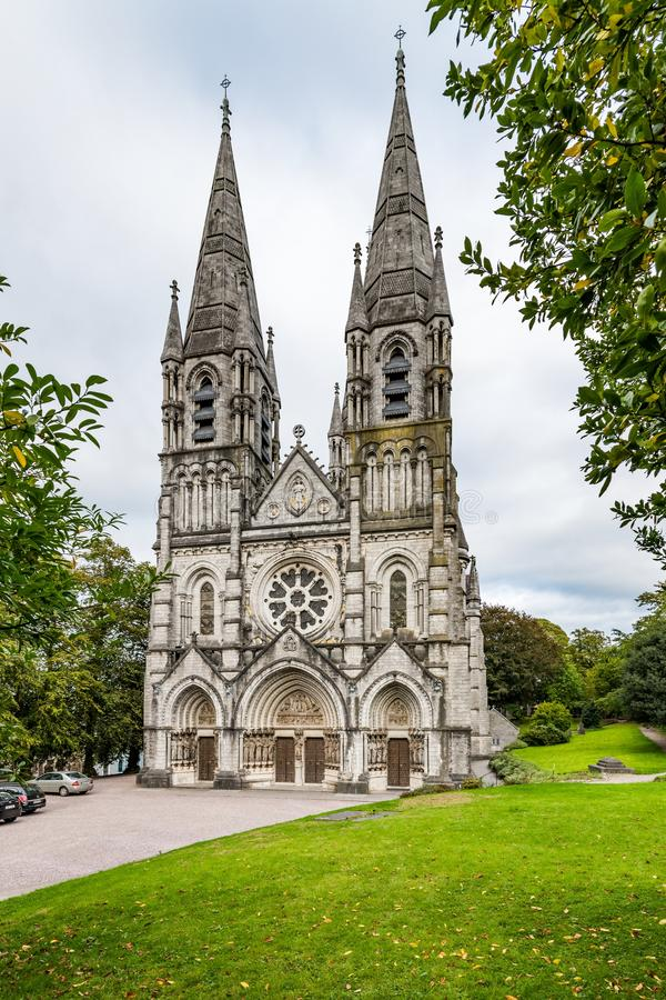 Saint Fin Barre`s Cathedral in Cork, Ireland. stock photos