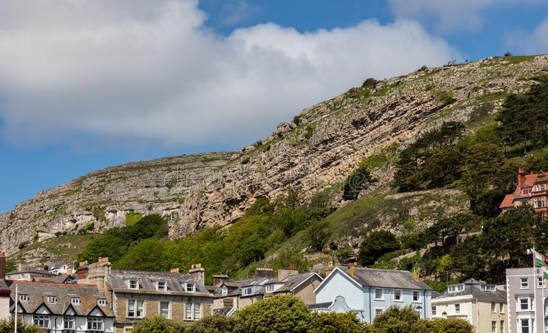 The Great Orme a natural feature in Llandudno North Wales stock photography