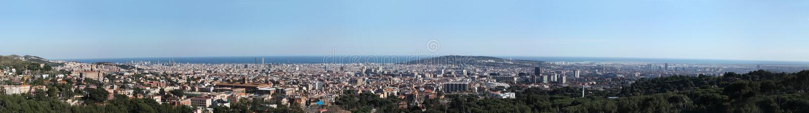 Great overview of Barcelona royalty free stock photography