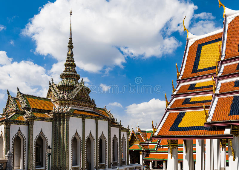 Great Palace Buddhist temple in Bangkok royalty free stock image