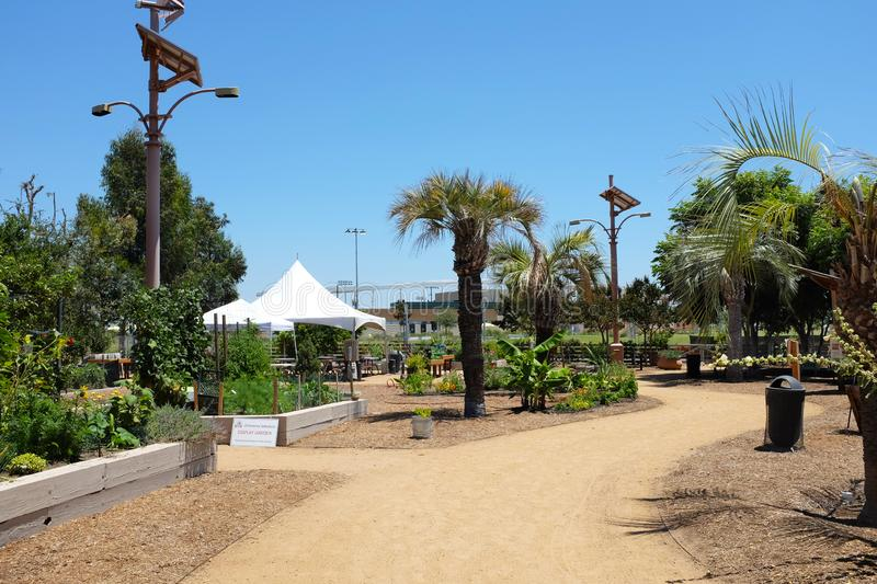 Great Park Farm and Food Lab. A one acre plot in Irvine`s Great Part established as a demonstration of sustainable urban. IRIVNE, CALIFORNIA - JULY 11, 2019 stock image