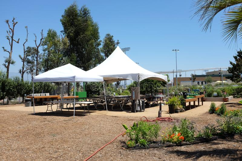 Great Park Farm and Food Lab. A one acre plot in Irvine`s Great Part established as a demonstration of sustainable urban. IRIVNE, CALIFORNIA - JULY 11, 2019 royalty free stock photography
