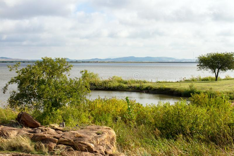 Great Plains State Park. Tom Steed Reservoir inside Great Plains State Park in Oklahoma royalty free stock images