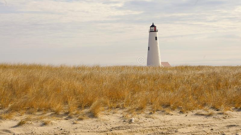 Great Point Lighthouse in the fall, Nantucket, Massachusetts royalty free stock photos