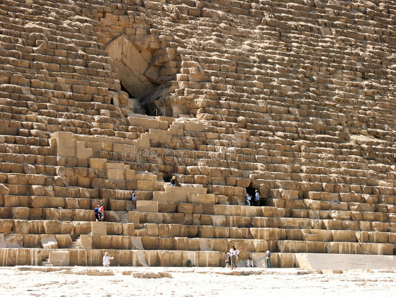 The Great Pyramid. Of Cheops (Khufu stock photo