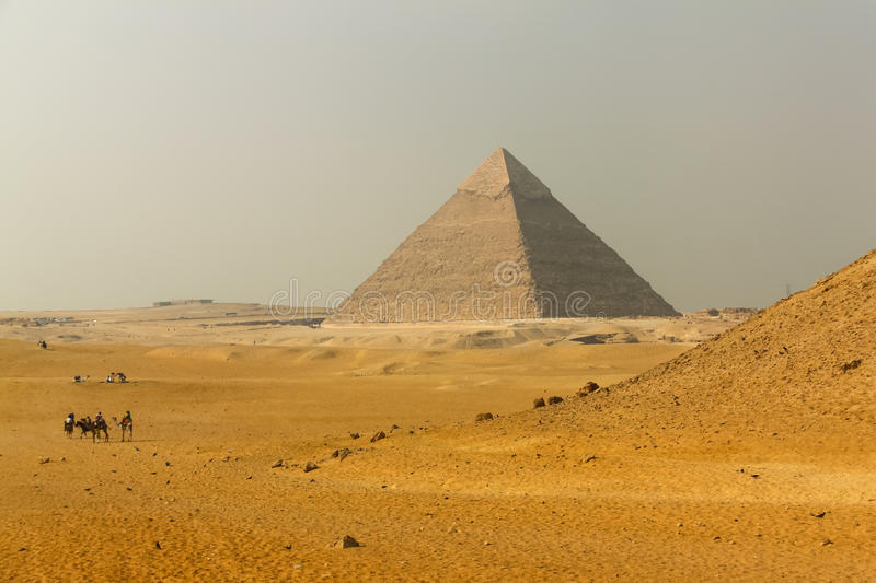 Great Pyramid. Of Giza. Egypt stock images