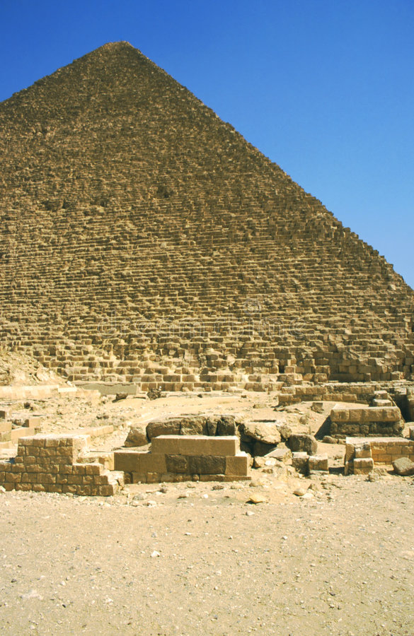 Great pyramid of Cheope royalty free stock image