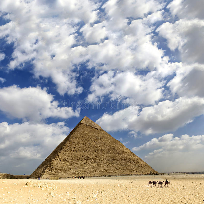 Great pyramid of Egypt. Image of one of the pyramids in the large complex in Cairo, Egypt stock image
