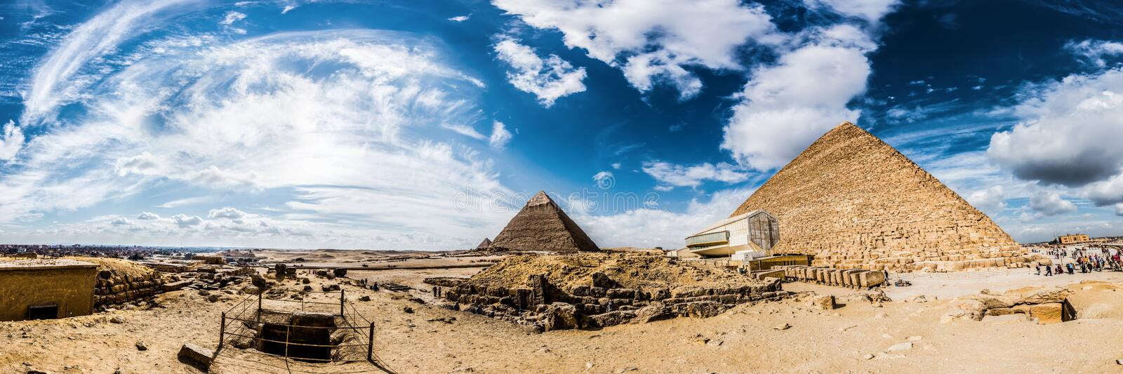 The great pyramids of Giza, Egypt royalty free stock image