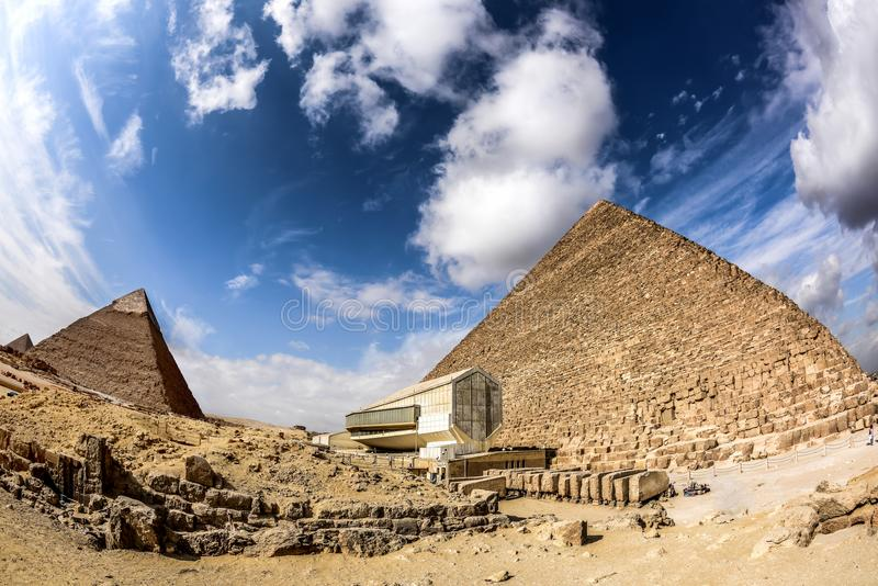 The Great Pyramids in Giza, Egypt royalty free stock images