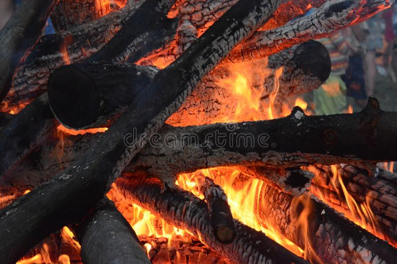 Great Red and Orange Fire royalty free stock photo