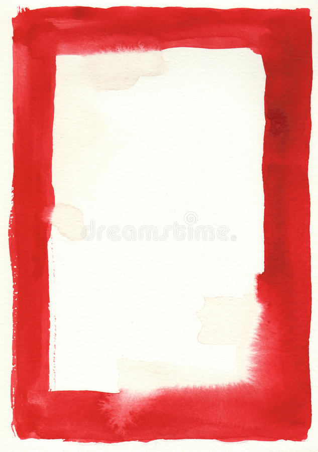 Download Great Red  Watercolor Background Frame Stock Illustration - Image: 12521754