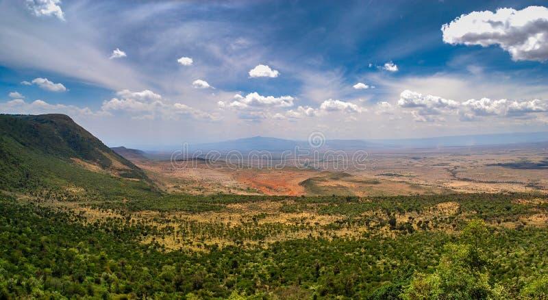 Great Rift Valley от дороги mai-Mahiu Narok Kamandura, k стоковое изображение