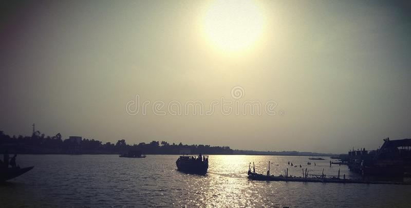The Great River of India Ganga royalty free stock photography