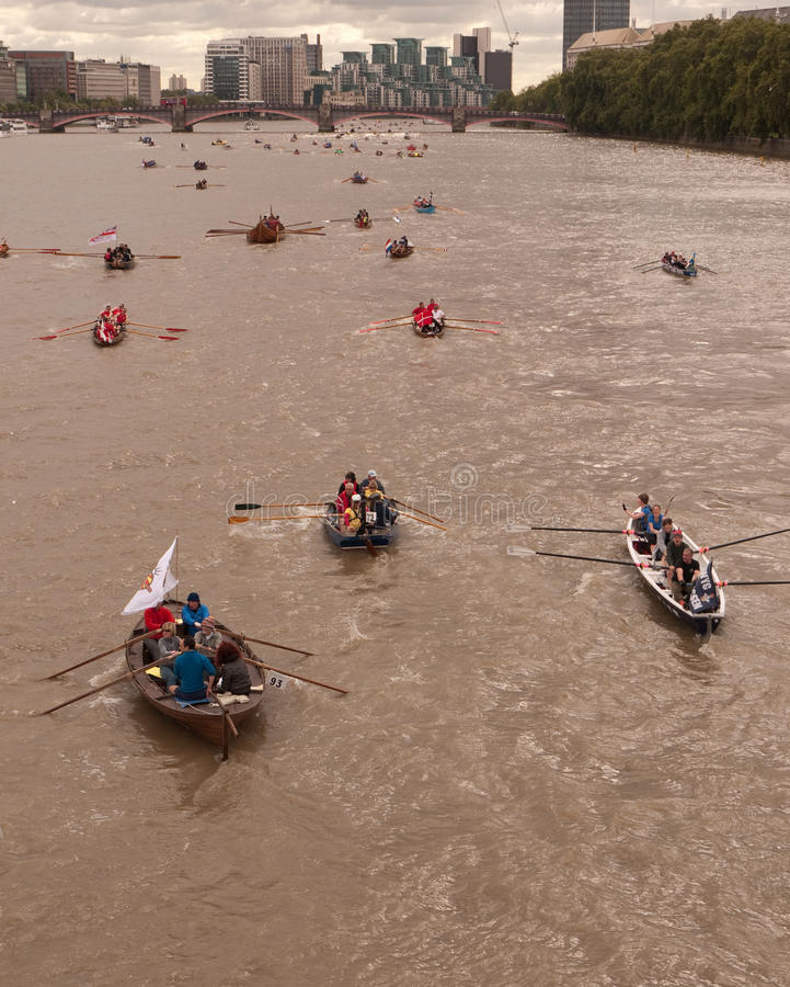 Download The Great River Race, Boats On The Thames. Editorial Stock Photo - Image: 16219908