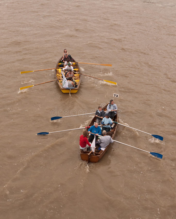 Download The Great River Race, Boats On The Thames. Editorial Stock Image - Image: 16219984