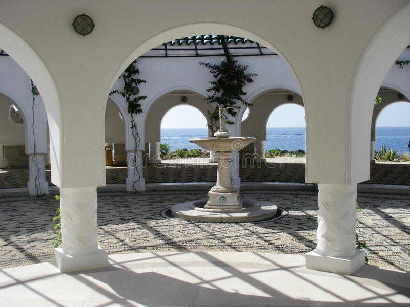 The Great Rotunda at Kalithea Thermal Springs royalty free stock images