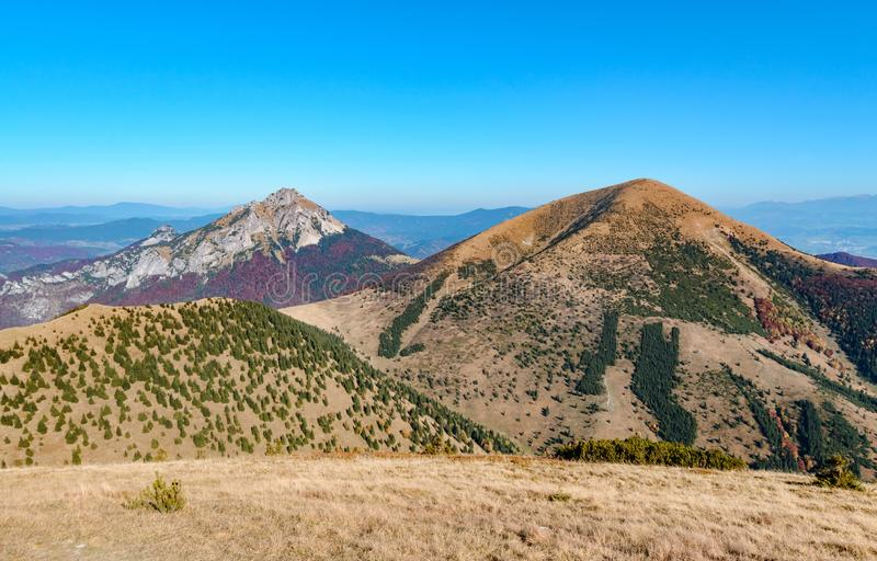 The Great Rozsutec hill in The Vratna valley at the national park Mala Fatra. Slovakia royalty free stock image