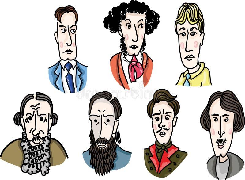 Great Russian writers stock photo