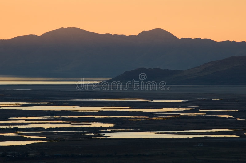 Great Salt Lake imagens de stock