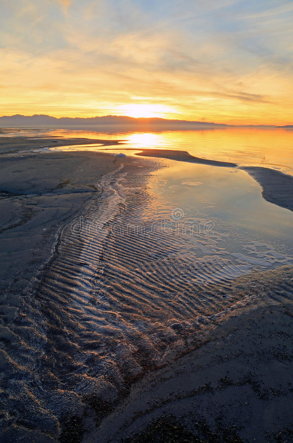 Great Salt Lake imagem de stock royalty free