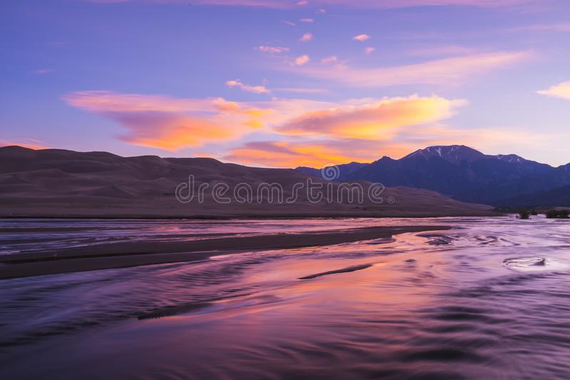 Great sand dune national park on the day,Colorado,usa. stock photography