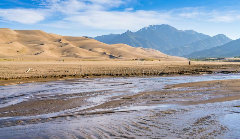 Great sand dune national park on the day,Colorado,usa. stock photos