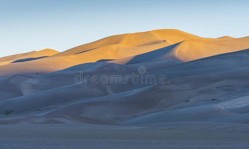 Great sand dune national park at sunrise,Colorado,usa. stock image