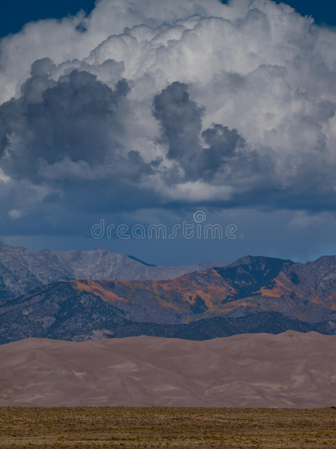 Download Great Sand Dunes stock image. Image of desert, gold, eroded - 21898231