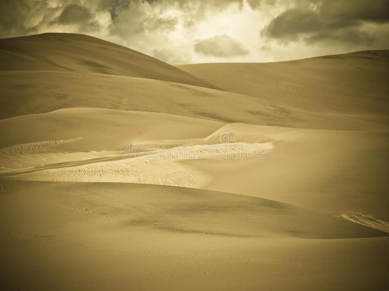 Great Sand Dunes. Before sunset at Great Sand Dunes National Park, Colorado stock photos