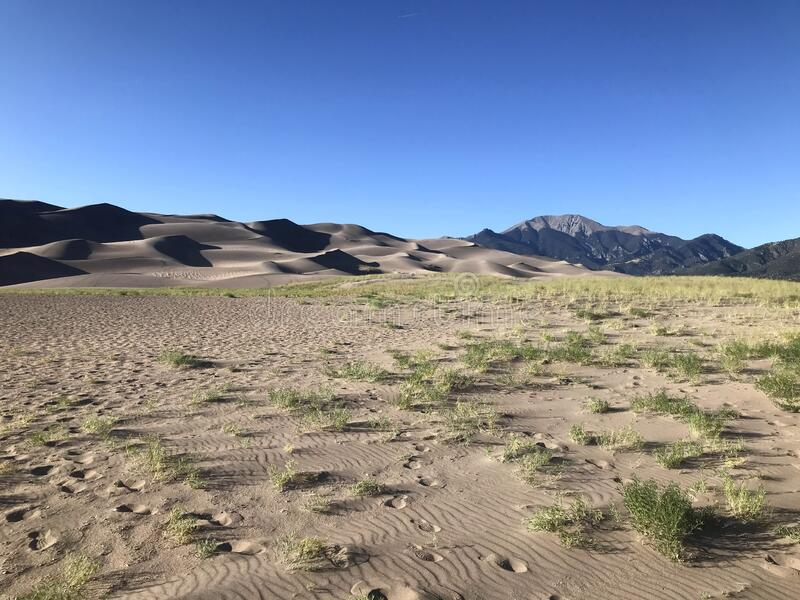 Great Sand Dunes National Park and Preserve stock image