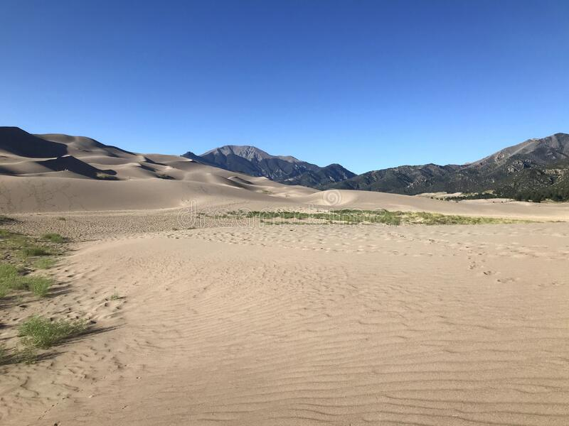 Great Sand Dunes National Park and Preserve royalty free stock images