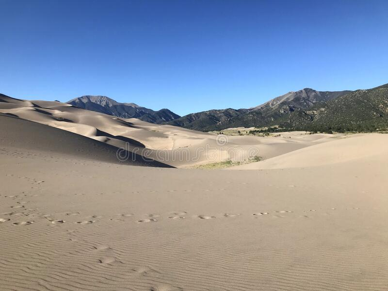 Great Sand Dunes National Park and Preserve stock images