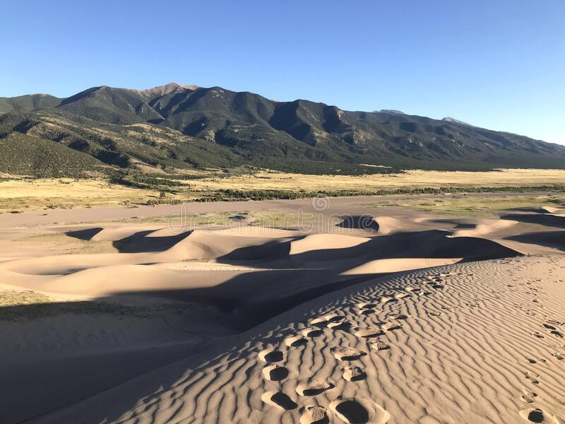 Great Sand Dunes National Park and Preserve stock photo