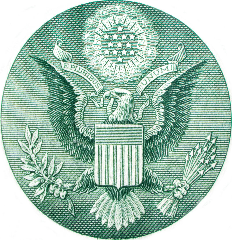 Great Seal of United States royalty free illustration