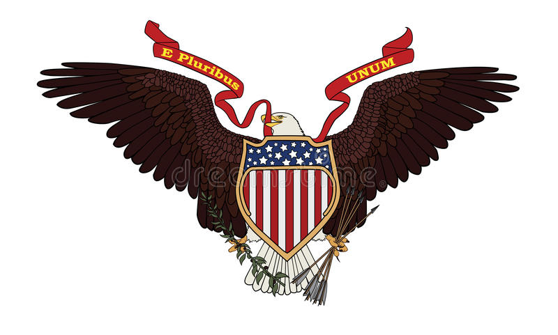 Great Seal of the USA stock illustration