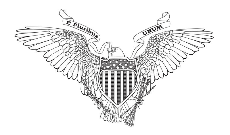 Great Seal of the USA royalty free illustration