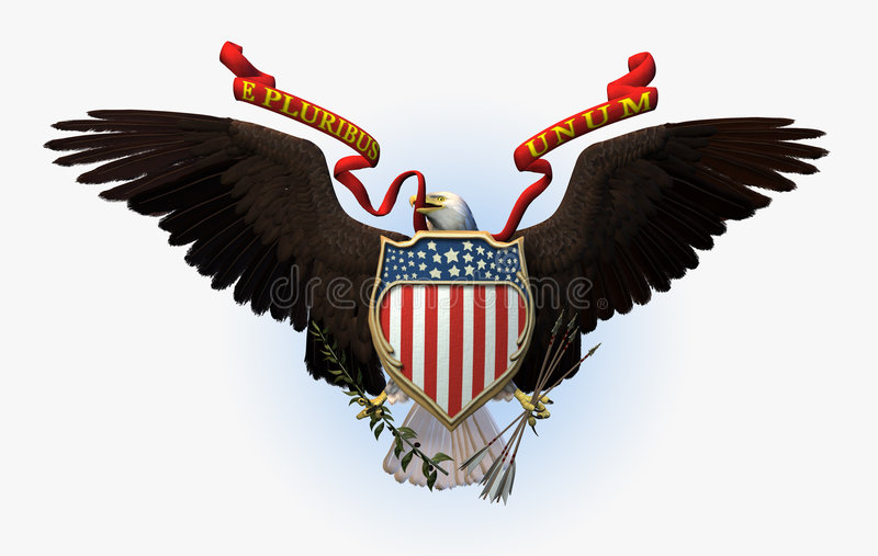Great Seal of the USA - includes clipping path royalty free illustration