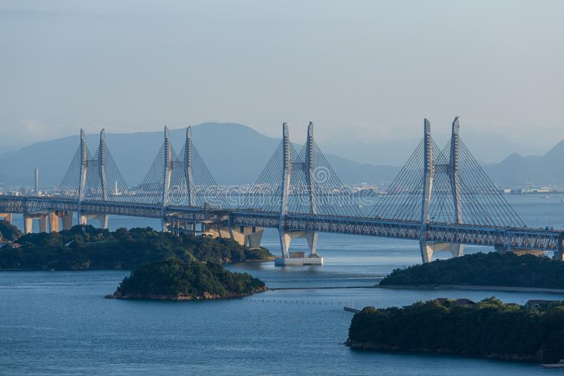 Great Seto Bridge. Outdoor beautiful scenery landscape royalty free stock photos