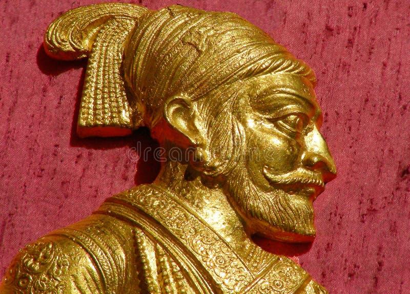 The Great Shivaji Maharajah. An idol portrait of the great Indian Maratha warrior Shivaji Maharajah stock image