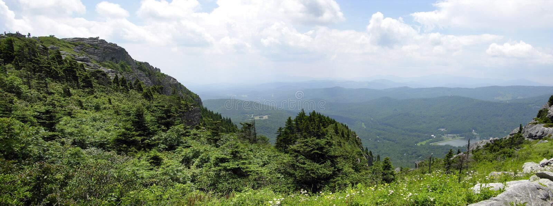 Great Smokey Mountain Panoramic Royalty Free Stock Photography