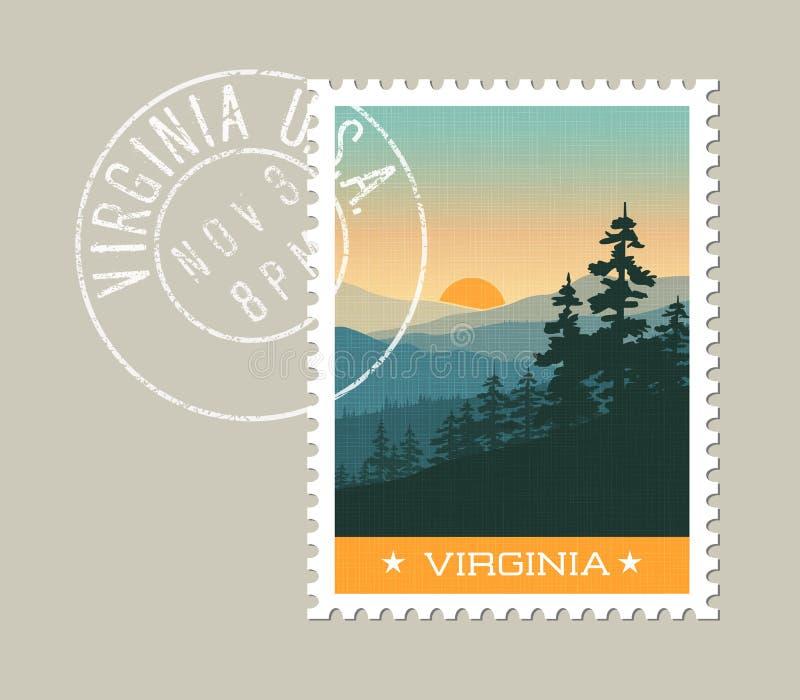 Great Smoky Mountains escénico, Virginia stock de ilustración