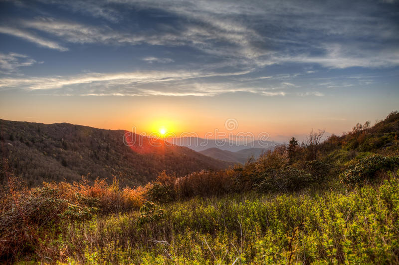 Great smoky mountains, hdr. Hdr image of sunset in great smoky mountains, north carolina royalty free stock images