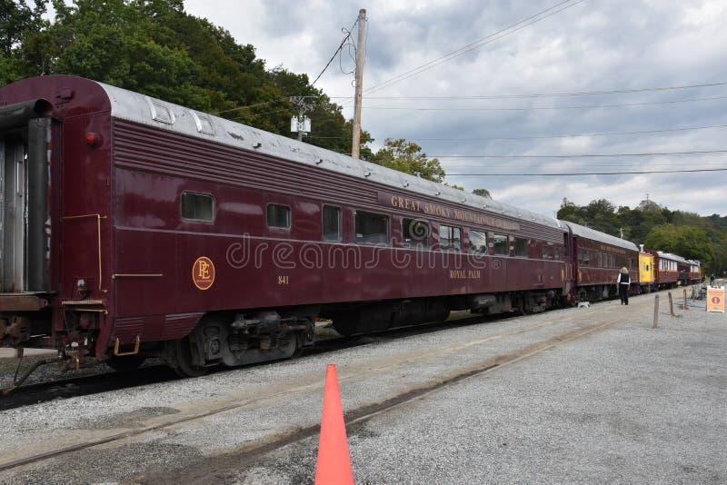 Great Smoky Mountains Railroad in Bryson City, North Carolina. USA stock photography