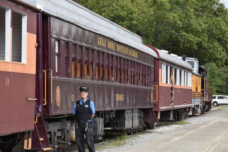 Great Smoky Mountains Railroad in Bryson City, North Carolina. USA stock photo