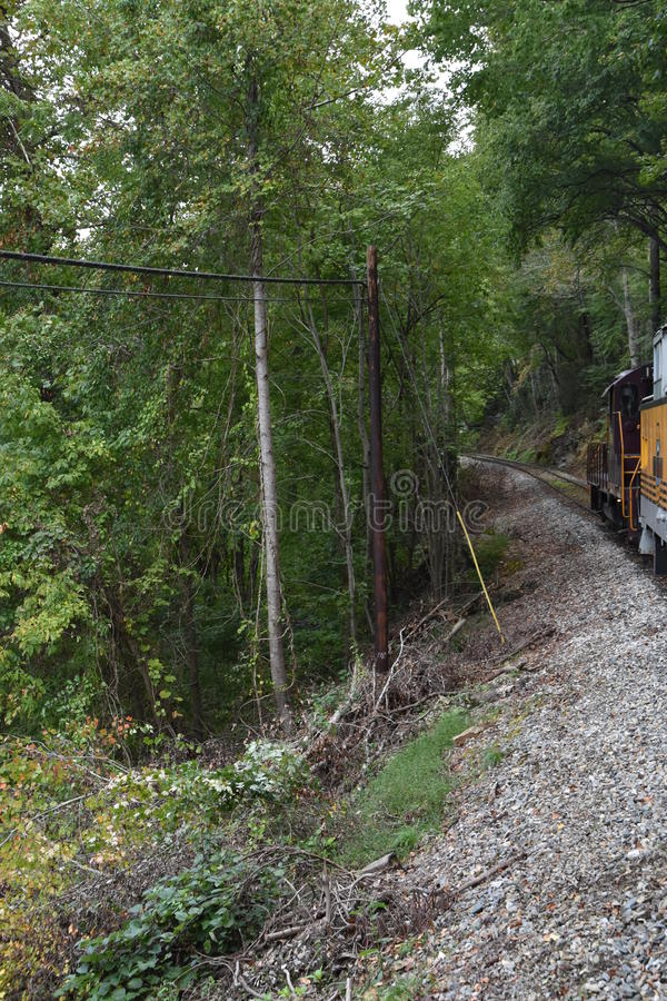 Great Smoky Mountains Railroad in Bryson City, North Carolina. USA stock images