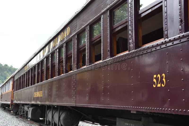 Great Smoky Mountains Railroad in Bryson City, North Carolina. USA royalty free stock image
