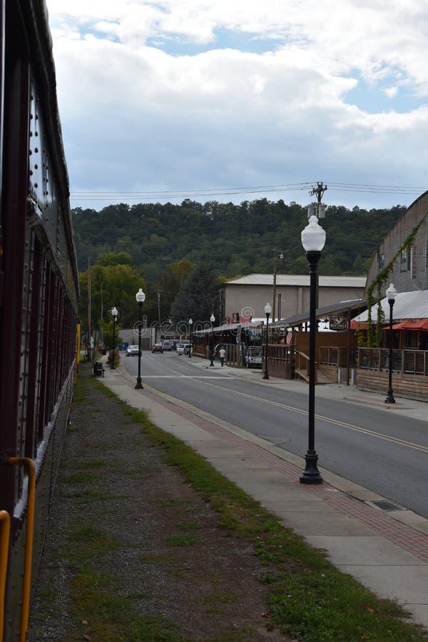 Great Smoky Mountains Railroad in Bryson City, North Carolina. USA royalty free stock photography